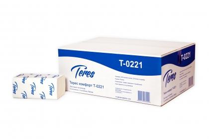 """Листовые полотенца """"Терес"""" Комфорт Эко V-сложение 2-сл, 200 л., Т-0221"""