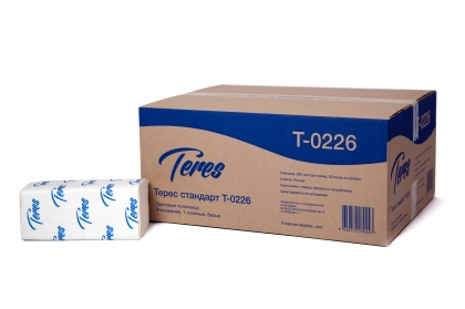 """Листовые полотенца """"Терес"""" Стандарт V-сложение, 1 сл., 200 л., Т-0226"""