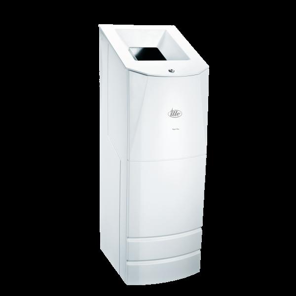 Напольный мусорный бак Ille Press Max, белый пластик