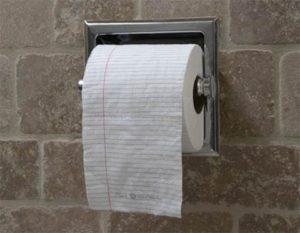 Туалетная бумага для записей картинка